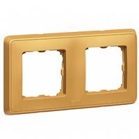 Рамка 2 поста матовое золото Legrand Cariva 773662