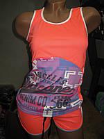 Комплект майка с рисунком и шорты