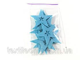Нашивка звездочка цвет голубой big, фото 3