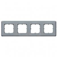 Рамка 4 поста жемчужно-серый Legrand Cariva 773694