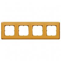 Рамка 4 поста матовое золото Legrand Cariva 773664