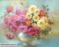 Картина маслом цветы Хризантемы