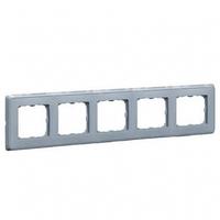 Рамка 5 постов жемчужно-серый Legrand Cariva 773695
