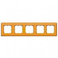 Рамка 5 постов матовое золото Legrand Cariva 773665