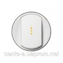 Лицевая панель 1-клавишного выключателя с подсветкой  белый 68003 Legrand Celiane