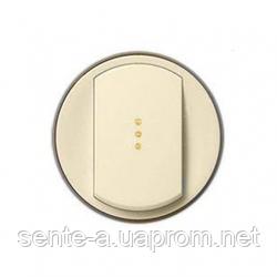 Лицевая панель 1-клавишного выключателя с подсветкой  слоновая кость 66210 Legrand Celiane