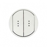 Лицевая панель 2-клавишных выключателей с подсветкой и  белый 68004 Legrand Celiane