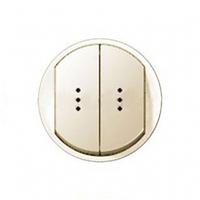 Лицевая панель 2-клавишных выключателей с подсветкой и  слоновая кость 66211 Legrand Celiane