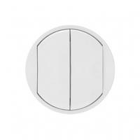 Лицевая панель 2-клавишного выключателя и  белый 68002 Legrand Celiane