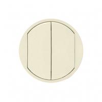 Лицевая панель 2-клавишного выключателя и  слоновая кость 66201 Legrand Celiane