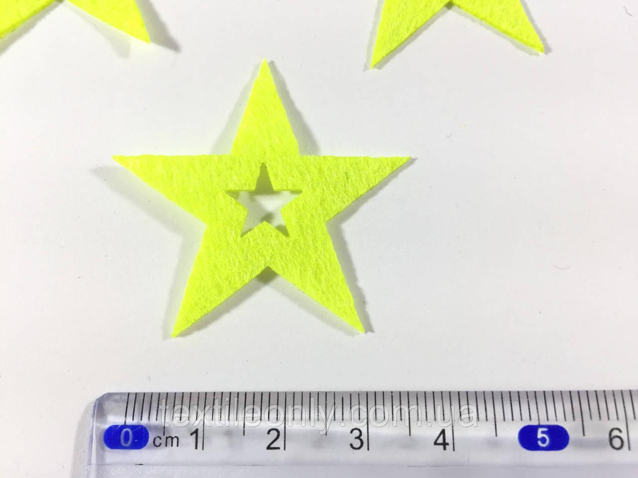 Нашивка звездочка цвет салатовый big