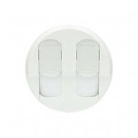 Лицевая панель компьютерной розетки двойной  белый 68252 Legrand Celiane