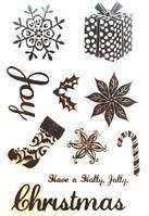 Набор силиконовых штампов Рождественский
