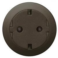 Розетка (2К+З) с плоской лицевой панелью, защитными шторками и самозажимными клемами графит 67168 Legrand Celiane