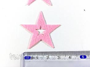 Нашивка звездочка цвет розовый big, фото 2