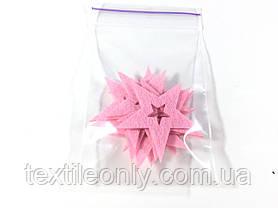 Нашивка звездочка цвет розовый big, фото 3