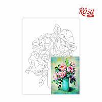 Полотно на картоні з контуром, Натюрморт №19, 30*40, бавовна, акрил, ROSA START
