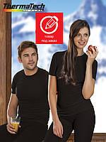 Термобелье. Термофутболка с коротким  рукавом THERMATECH, цвет черный, унисекс. Размеры M. L. XL. XXL