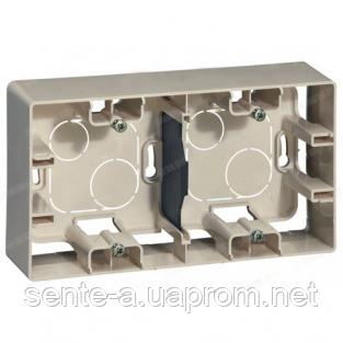 Коробка для накладного монтажа 2 поста слоновая кость Legrand Etika 672540