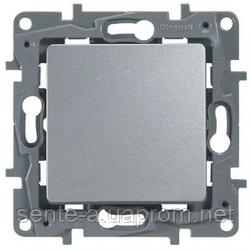 Механизм кнопки 1-клавишной алюминий 672414 Legrand Etika
