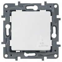 Механизм проходного 1-клавишного переключателя IP44 672200 белый Legrand Etika