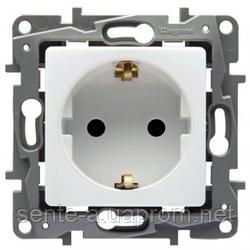 Механизм розетки (2К+З) 16А немецкий стандарт белый 672221 Legrand Etika