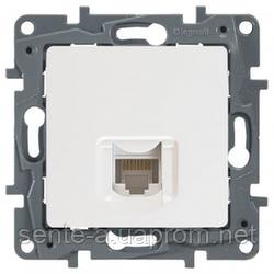 Механизм розетки компьютерной RJ45 категория 5 UTP одинарной белый 672241 Legrand Etika
