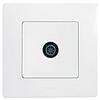 Механизм розетки TV проходной 2400МГц 14дб белый 672263 Legrand Etika, фото 2