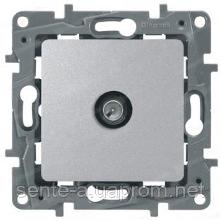 Механизм розетки TV простой 2400МГц 15дб алюминий 672451 Legrand Etika