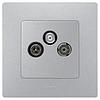 Механизм розетки TV/R/Sat 0 — 2400мГц 2дб алюминий 672456 Legrand Etika, фото 2