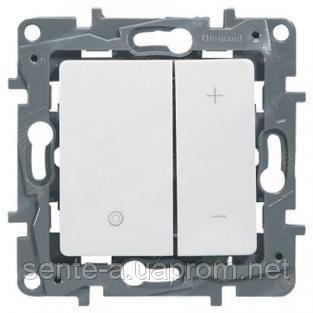Механизм светорегулятора 400Вт нажимного белый 672218 Legrand Etika