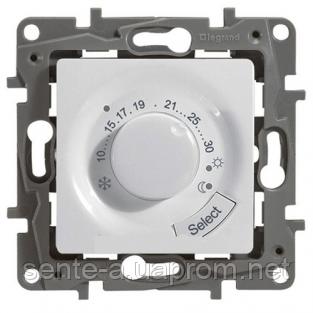 Механизм термостата для тёплых полов белый 672230 Legrand Etika