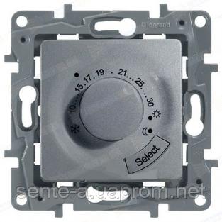 Механизм термостата для тёплых полов алюминий 672430 Legrand Etika