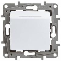 Механизм выключателя для гостиничных номеров 672293 белый Legrand Etika