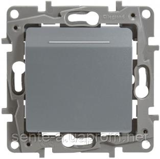 Механизм выключателя для гостиничных номеров 672493 алюминий Legrand Etika