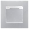 Механизм выключателя для гостиничных номеров 672493 алюминий Legrand Etika, фото 2