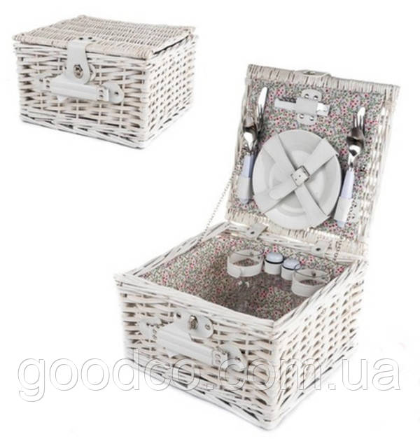 """Корзина для пикника из лозы (2 персоны) - Интернет магазин подарков и сувениров """"GoodCo."""" в Черноморске"""