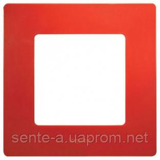 Рамка 1 пост красный 672531 Legrand Etika