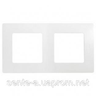 Рамка 2 поста белый 672502 Legrand Etika