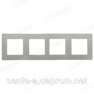Рамка 4 поста алюминий 672554 Legrand Etika