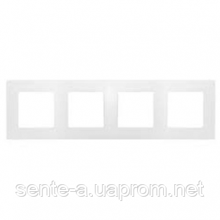 Рамка 4 поста белый 672504 Legrand Etika