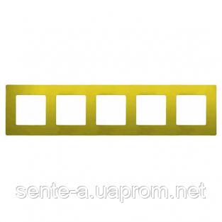 Рамка 5 постов зеленый папоротник 672545 Legrand Etika