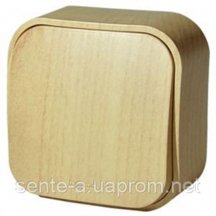 Выключатель 1-клавишный под дерево 782260 Legrand Forix (Quteo)