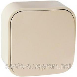 Выключатель кнопочный 1-клавишный слоновая кость 782435 Legrand Forix (Quteo)