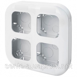 Установочный блок на 4 поста белый 782494 Legrand Forix (Quteo)