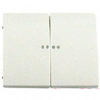 Клавиша 2-клавишного выключателя с подсветкой белая Legrand Galea Life 777013