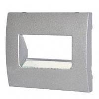 Лицевая панель двойной телефонной розетки RJ11 алюминий Legrand Galea Life 771375