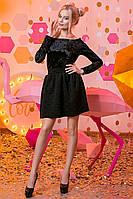 """Женское стильное короткое платье 2-713 """"Бархатные Цветы"""", фото 1"""