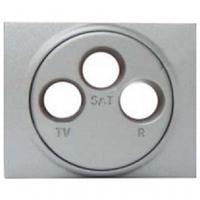 Лицевая панель розетки TV-FM-SAT алюминий Legrand Galea Life 771373