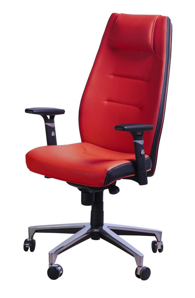 Кресло Элеганс HB Неаполь-36 красный, боковины/задник Неаполь-20 чёрный тм AMF.